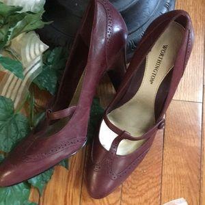 👠👠 NWOT Leather Worthington Burgandy shoe